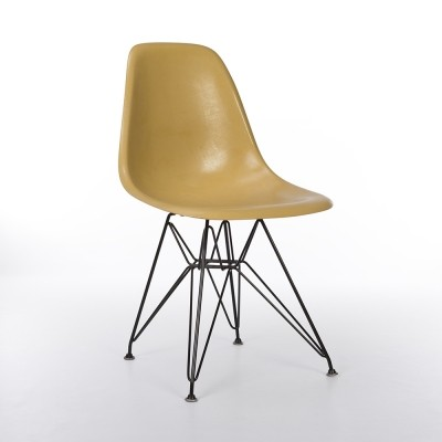 Original Herman Miller Ochre Eames DSW Dining Side Chair