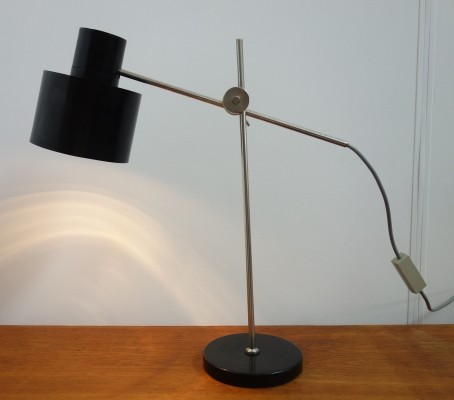 Czech desk light with Bakelite shade by Jan Suchan, 1968