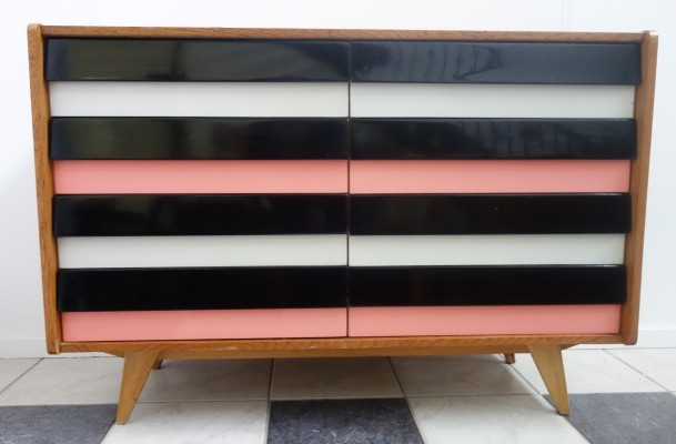 Pink chest of drawers / sideboard by Jiroutek for Interier Praha, 1960s