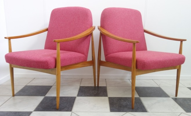 Pair of Czech arm chairs, 1960s