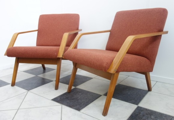 Pair of Czech ZNZ chairs, 1970s