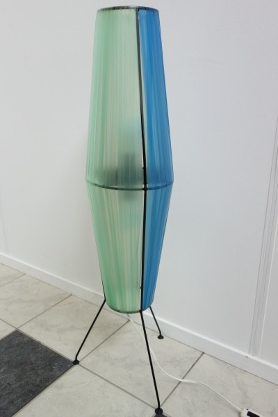 Rocket shape floorlamp in 3 colors, 1960s