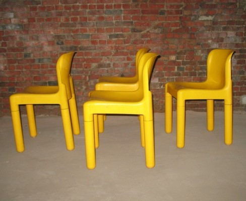 5 x Model 4875 dining chair by Carlo Bartoli for Kartell, 1970s