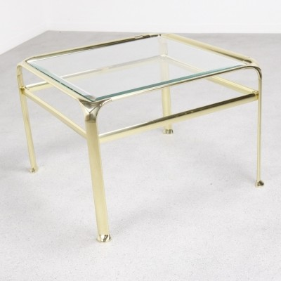 Solid brass coffee table by Mauro Lipparini, 1970s