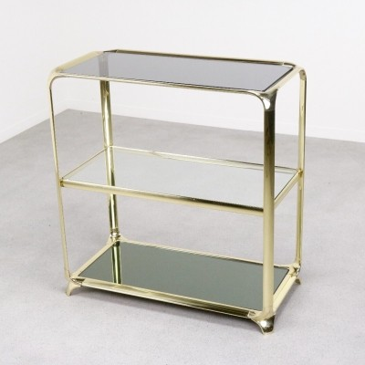 Solid brass console side table by Mauro Lipparini, 1970s