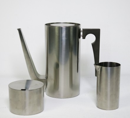 Cylinda line Coffee set by Arne Jacobsen for Stelton, 1960s