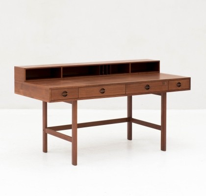 'Flip-top' writing desk in teak by Jens Quistgaard, Denmark 1960s