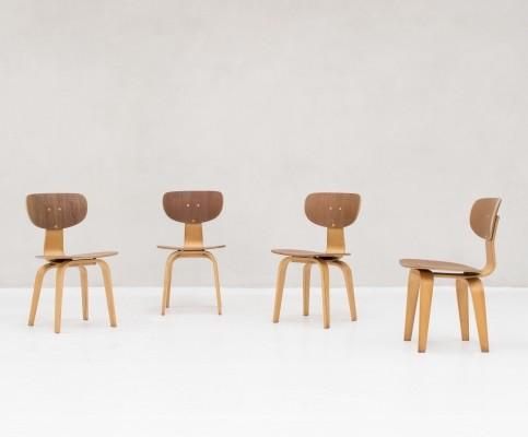 4 'combex series' model SB02 Dining chairs by Cees Braakman for Pastoe, 1950s