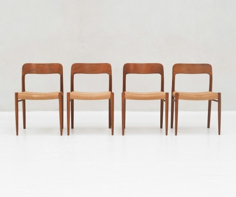 Set of 4 Dining chairs by Niels Otto Moller for J.L Moller