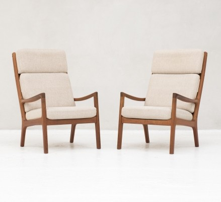 Senator Series High back easy chairs in teak by Ole Wanscher, 1950s
