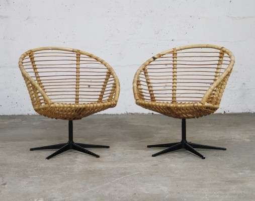 Pair of vintage lounge chairs, 1950s