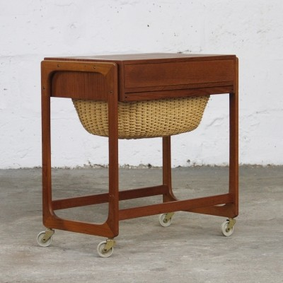 Sewing box side table by BR Gelsted, 1960s
