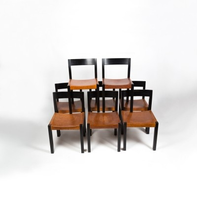 Set of 6 Holzstuhl HE 3220 dining chairs by Hans Eichenberger for VSSM Wichtrach, 1960s