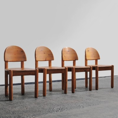 Set of 4 dinner chairs by Rainer Daumiller for Hirtshal Sawmill, 1970s