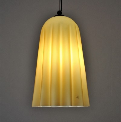 Opaline glass hanging lamp by Vetri Murano