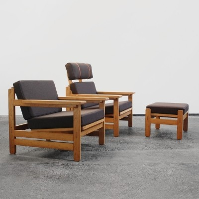 Pair of lounge chairs by Aksel Dahl for KP Møbler, 1970s