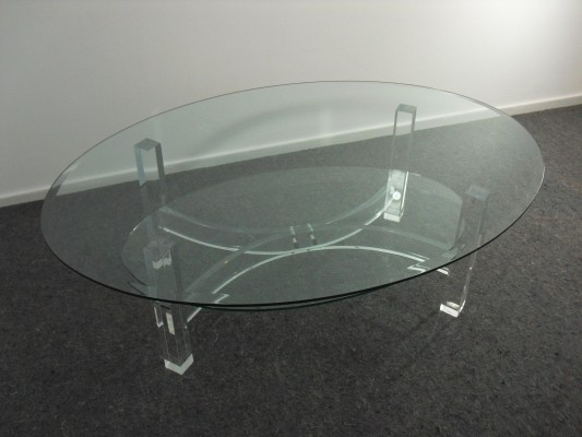 Dutch Transparant Coffee Table by Bor Design, 1980's