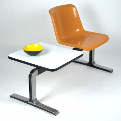 Waiting Bench with Table by Georg Leowald for Wilkhahn, 1960s