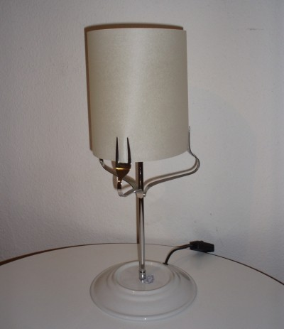 Pair of rare treforchette lamps by Michele de Lucchi for Produzione Privata