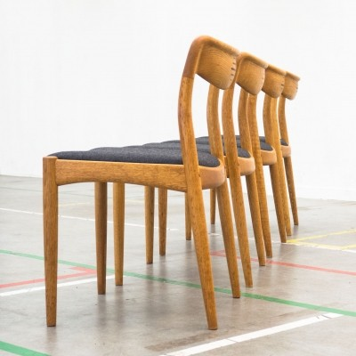 Set of 4 dinner chairs by Johannes Andersen for Uldum Møbelfabrik, 1960s
