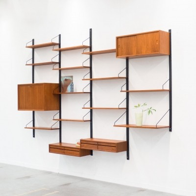 Wall unit by Poul Cadovius for Royal System, 1950s