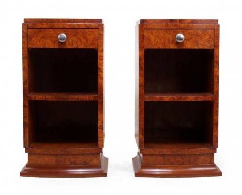 Pair of Art Deco Bedside Cabinets in Amboyna