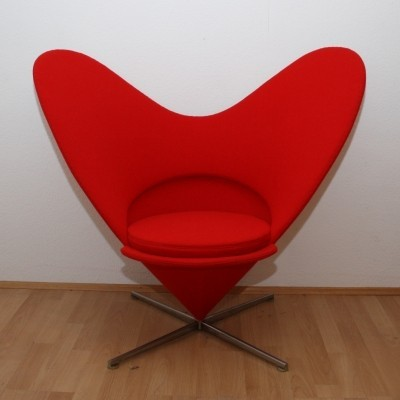 Heart Cone chair by Verner Panton for Plus Linje, 1950s