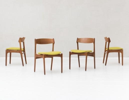 4 dining chairs by Erik Buck for O.D. Mobler, Denmark 1957