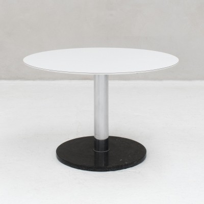 Dining table with a blue hardstone foot, Belgian design 1970s