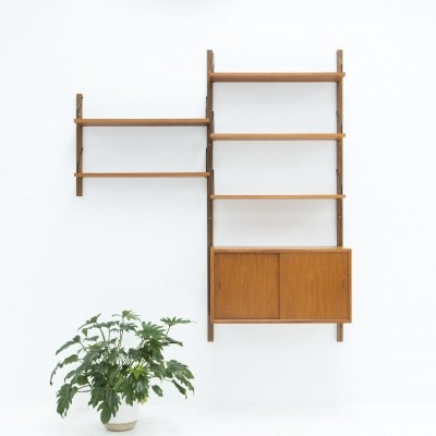 Wall unit in teak by Poul Cadovius, Denmark 1950s