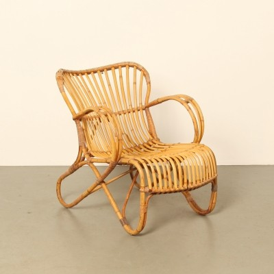 Rattan RB-2 lounge chair by Dirk van Sliedrecht for Rohe Noordwolde