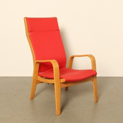 Red 'Arjan FB05' Armchair by Cees Braakman for Pastoe, 1950s