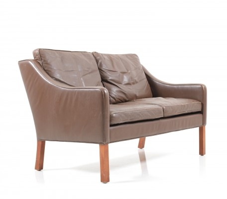Leather 'Model 2208' Sofa by Børge Mogensen, 1960s