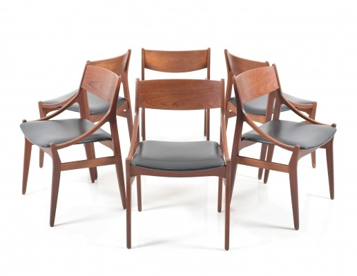 Set of 6 Dining Chairs by H. Vestervig Eriksen, 1960s