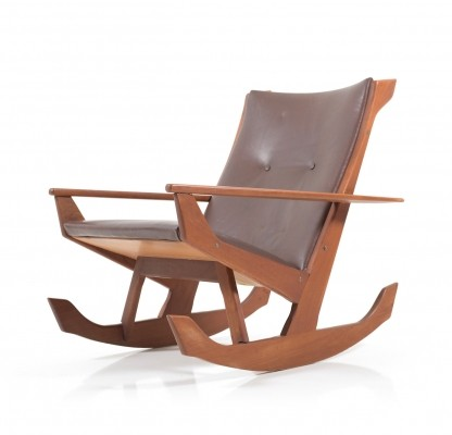 Rare Georg Jensen Rocking Chair in solid Teak