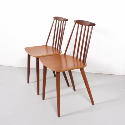 2 x J77 dining chair by Folke Palsson for FDB Møbler, 1960s