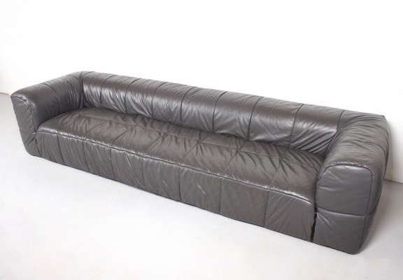 Large Leather 'Strips' Sofa by Cini Boeri for Arflex, 1968