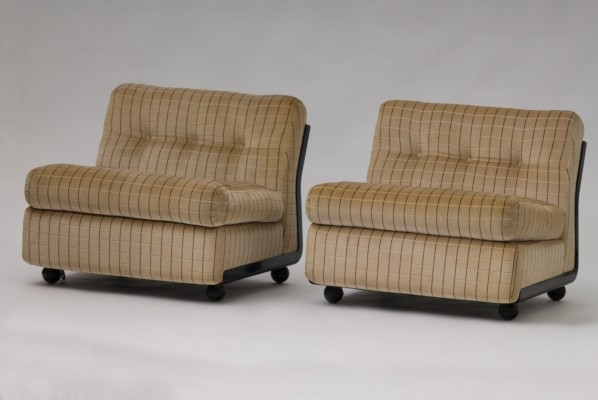 Pair of lounge chairs by Mario Bellini for B & B Italia, 1970s