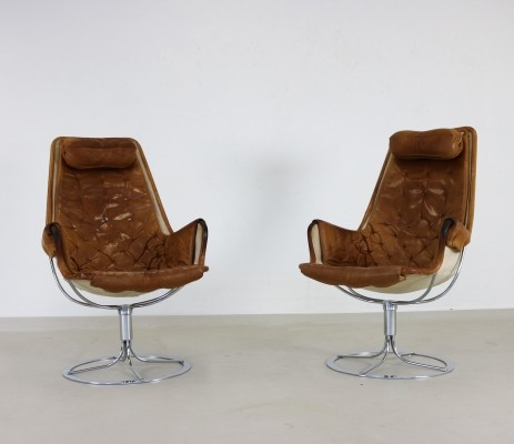 Pair of Jetson lounge chairs by Bruno Mathsson for Dux, 1970s