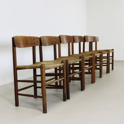 Set of 6 J39 dinner chairs by Børge Mogensen for Fredericia, 1960s