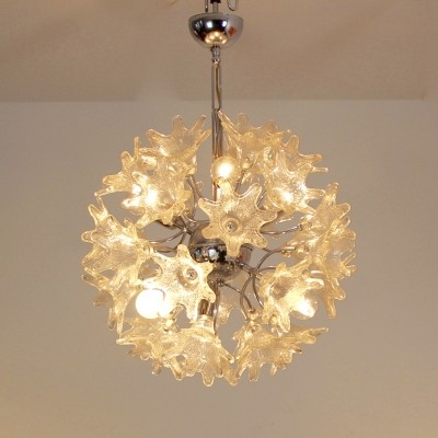 Sophisticated Venini Murano Glass Chandelier for VeArt, Italy 60s