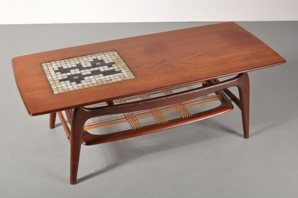 Coffee table by Louis van Teeffelen for Wébé, 1950s