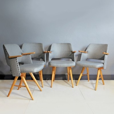Set of 4 FE 30 arm chairs by Cees Braakman for Pastoe, 1960s