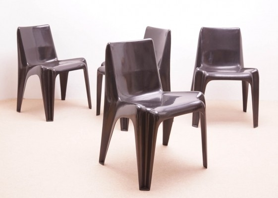 Set of four Fiberglass Chairs by Helmut Bätzner for Bofinger