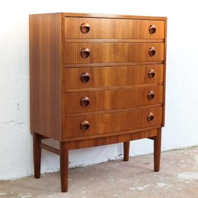 Baby chest of 5 drawers in teak by Kai Kristiansen