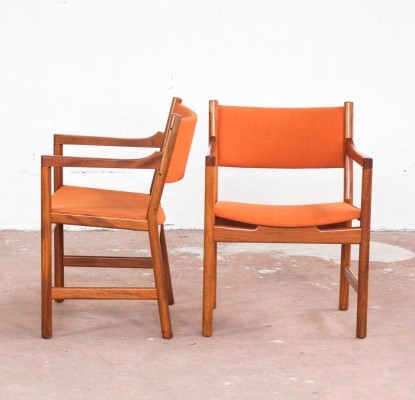 4 chairs in teak by Hans Wegner for Johannes Hansen