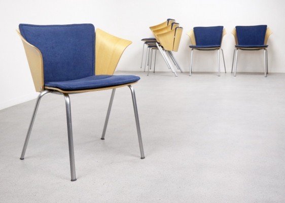 12 x VM3 dining chair by Vico Magistretti for Fritz Hansen, 1990s