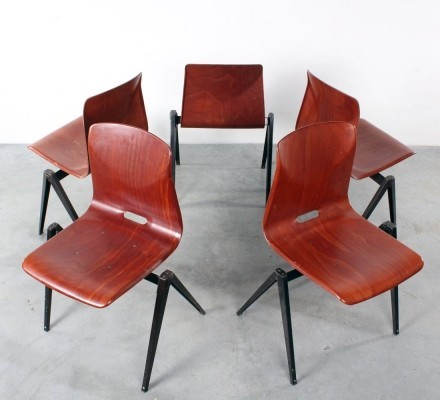 Set of 5 Pagholz dining chairs by Galvanitas, 1960s