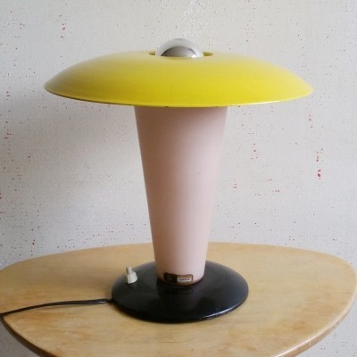 Metal & Glass Desk Lamp by Louis Kalff for Philips, 1950s