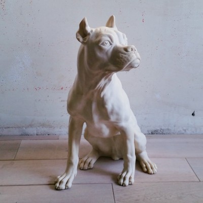 Vintage Sculpture of Dog by A. Santini, 1960s/1970s